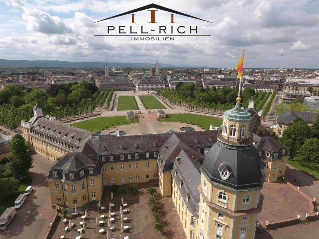 Luftbild vom Karlsruher Schloss