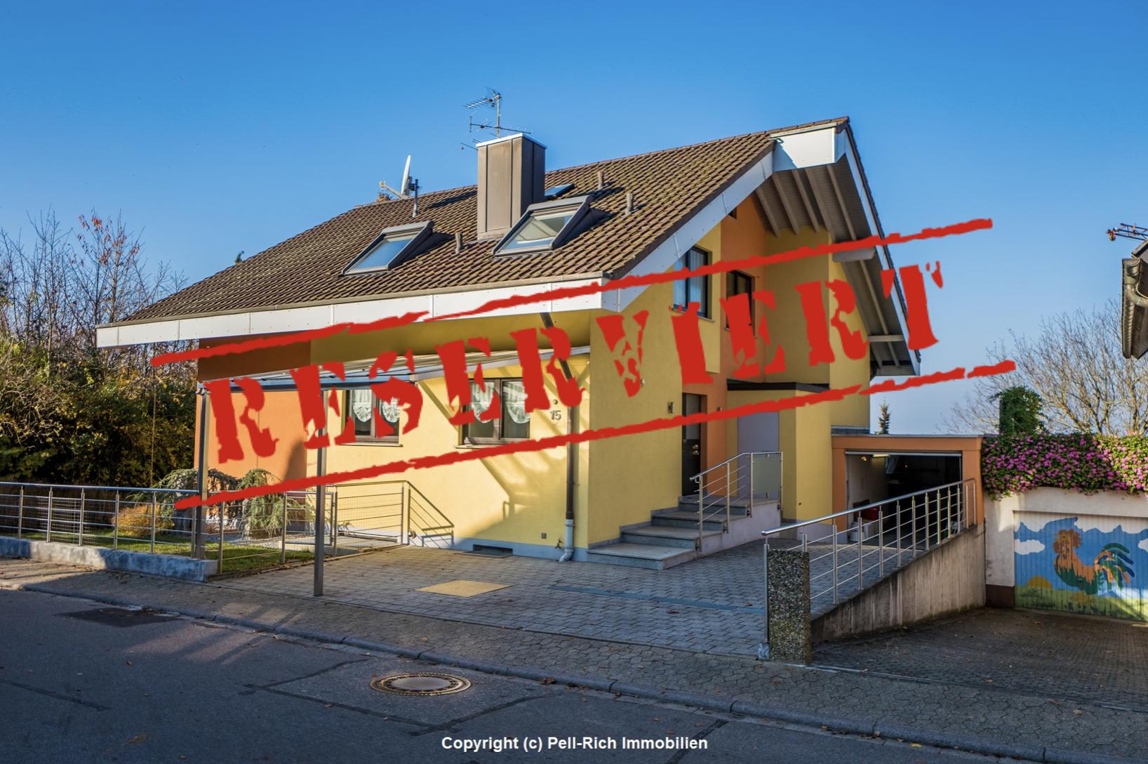 -derzeit reserviert- FAMILIENGLÜCK: Einfamilienhaus mit Einliegerwohnung und Top-Aussicht auf die Rheinebene