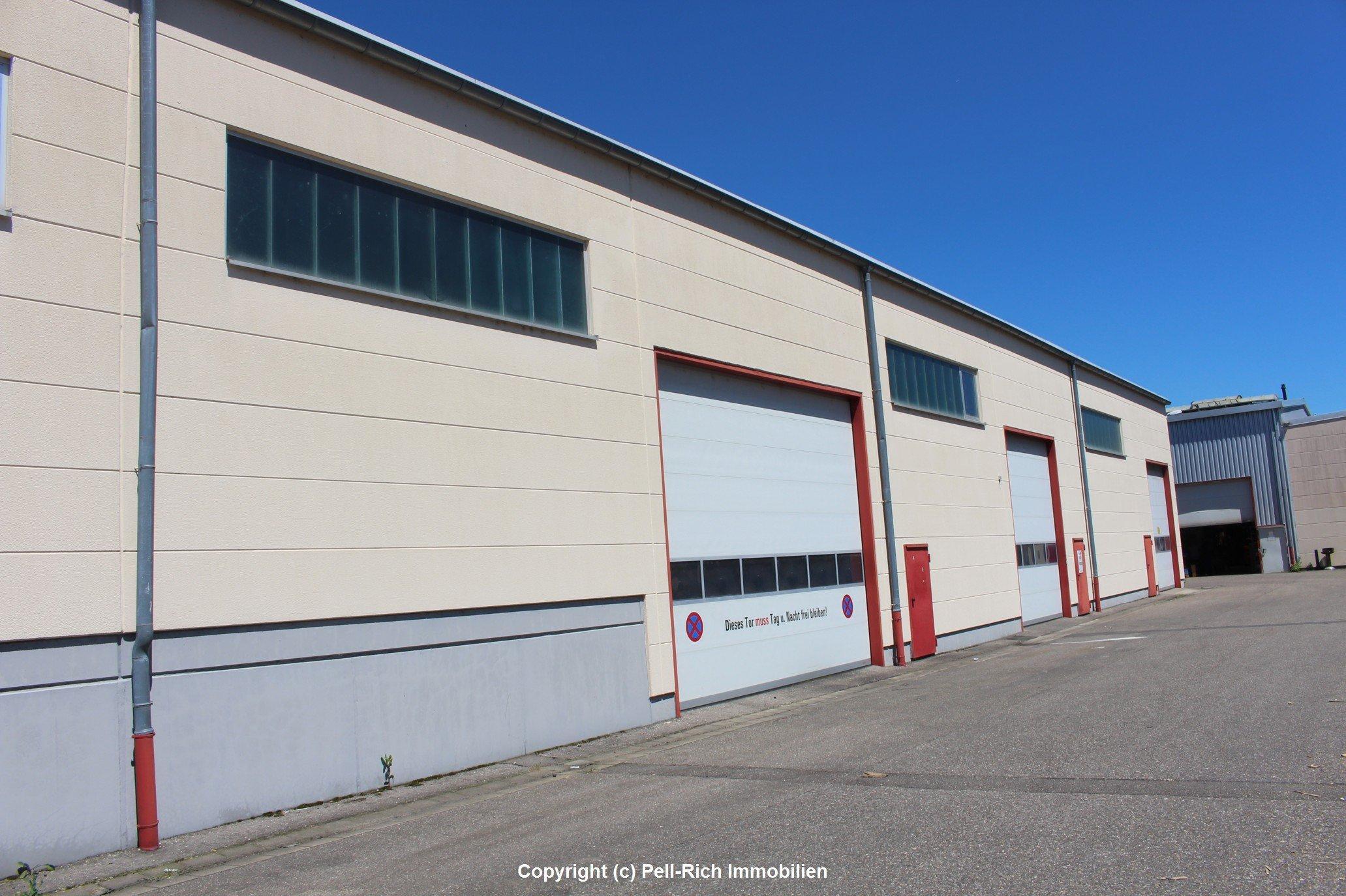 """Großzügige Hallenflächen inkl. Büro und Wohneinheiten im Gewerbegebiet """"Horst"""" in Kandel"""