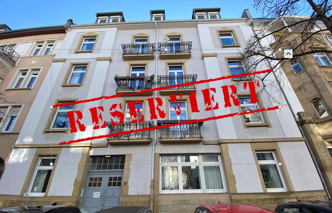 -derzeit reserviert- BELETAGE: 3-Zimmer Wohnung inkl. zwei Balkone in gefragter Lage