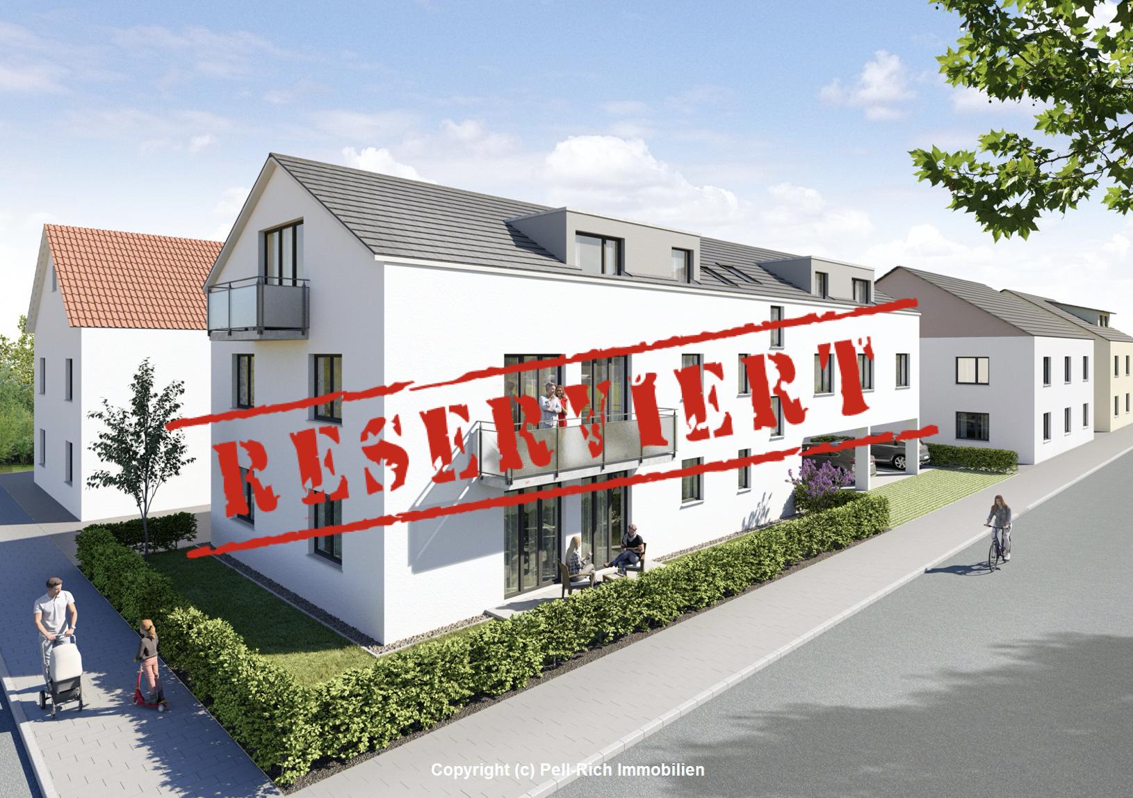 -derzeit reserviert- WOHNGLÜCK: 3 Neubaumietwohnungen je inkl. Außenstellplatz ab 01.11.21 verfügbar