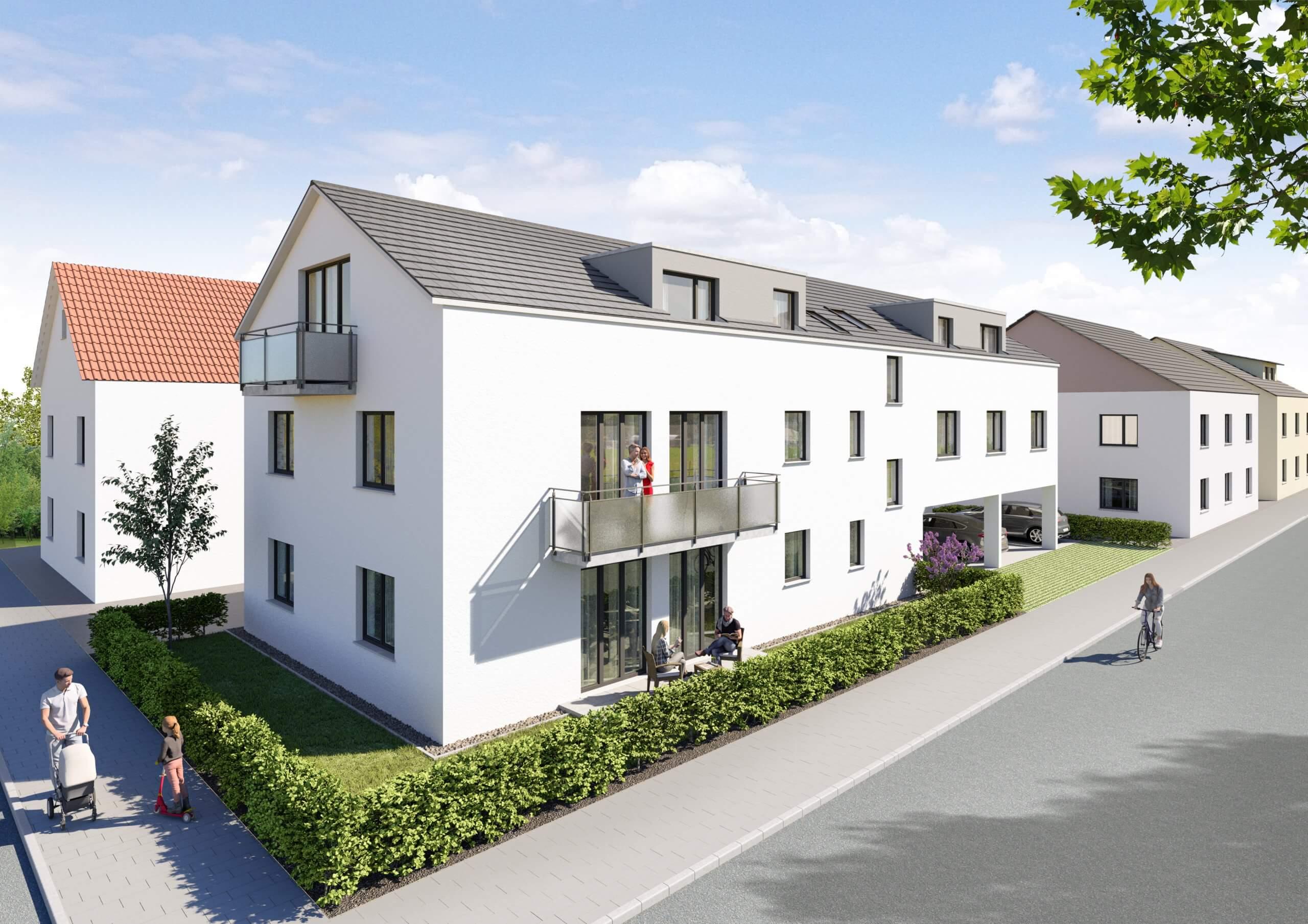 WOHNGLÜCK: 5 Neubaumietwohnungen je inkl. Außenstellplatz ab 01.10.21 verfügbar