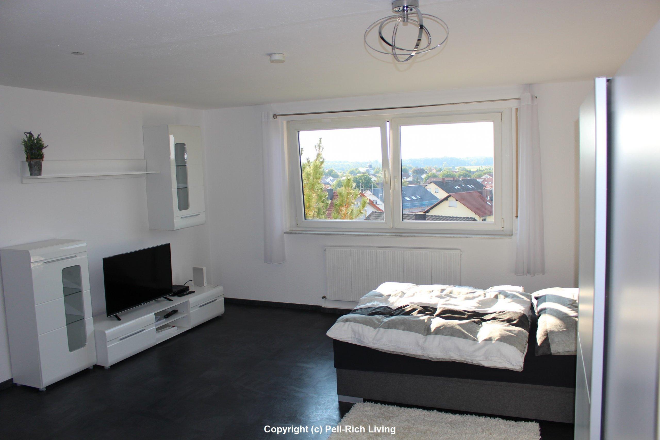 Hochwertig und voll möbliertes 1 Zi. Apartment in Linkenheim inkl. TV und Internet
