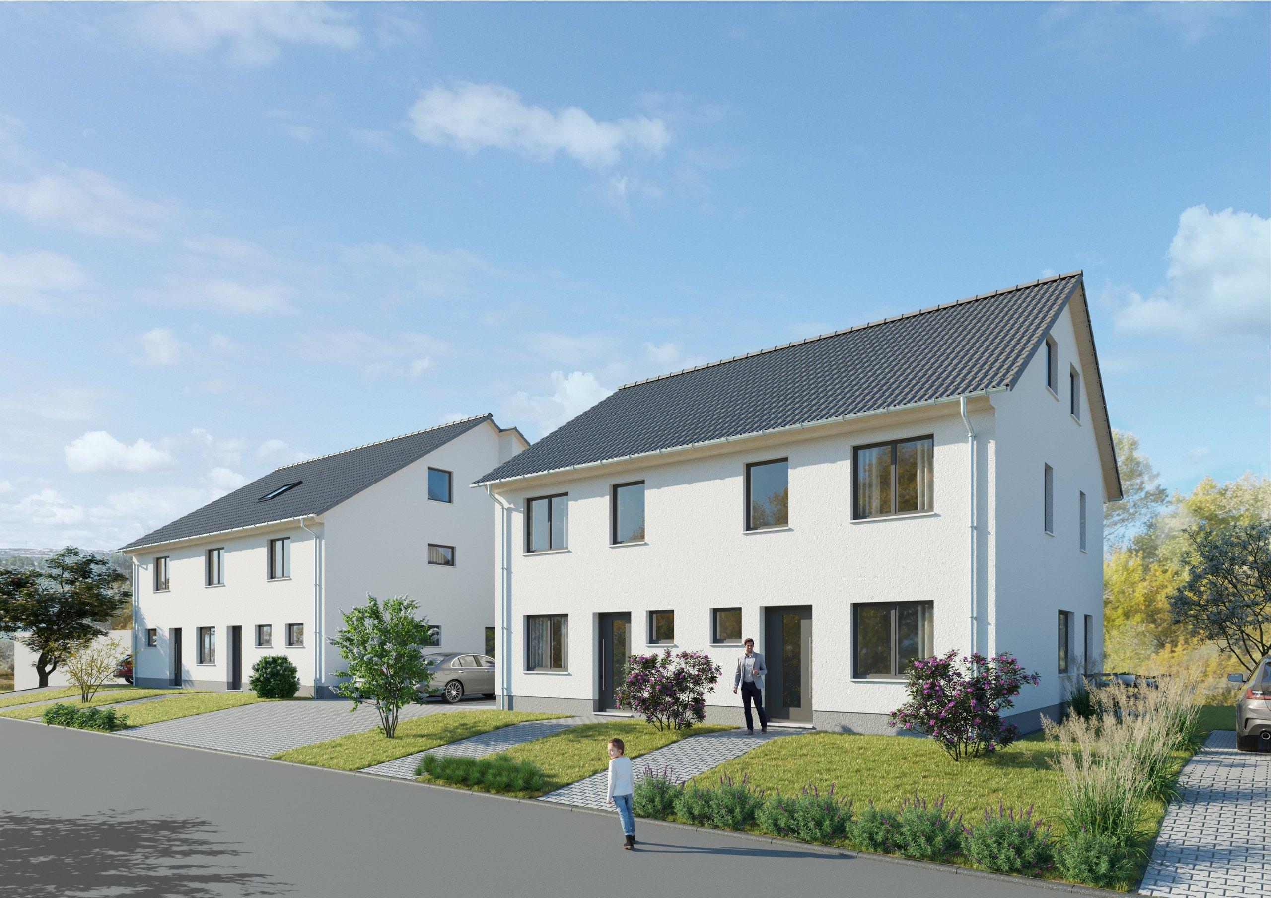 SEEBLICK: Zwei Neubau-Doppelhaushälften inkl. Außenstellplatz & voll unterkellert in Daxlanden