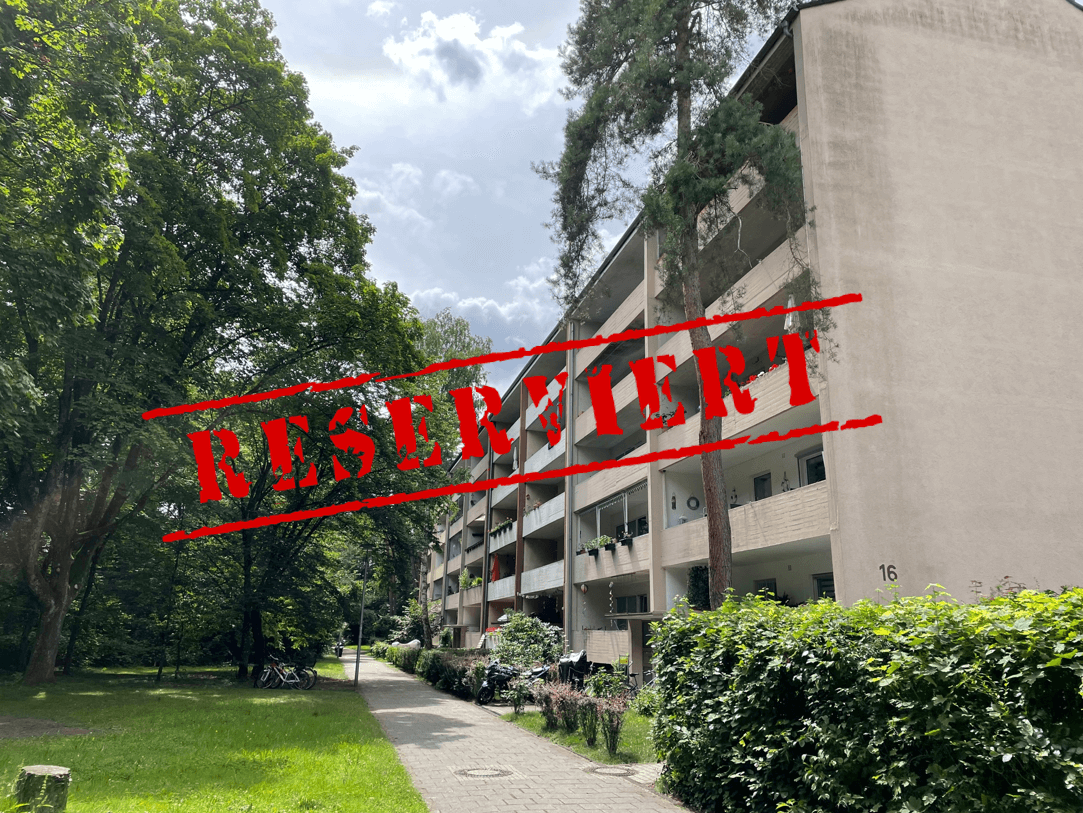 -derzeit reserviert- GESUCHT & GEFUNDEN: Bezugsfreie 3-Zimmer Wohnung mit Blick ins Grün in der Waldstadt